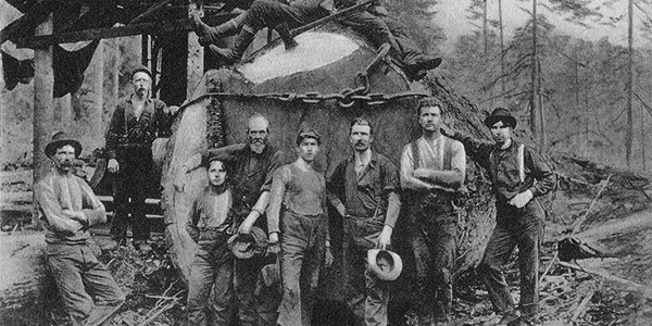 Historic image of lumberjacks