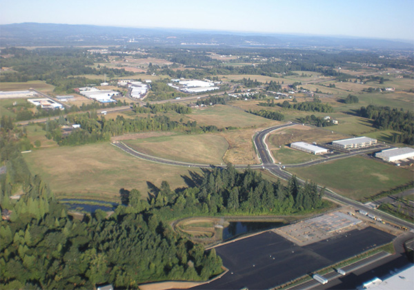 Port of Ridgefield aerial from east