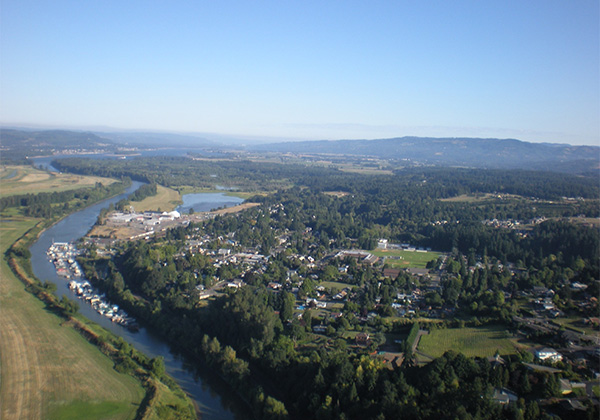 Port of Ridgefield aerial from south